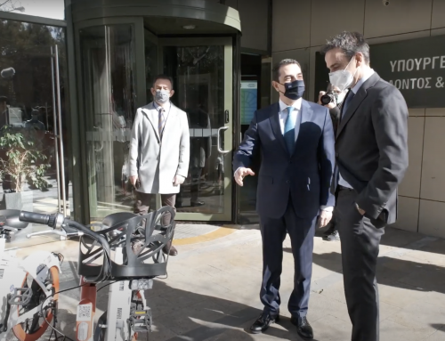 BrainBox: Presentation of electric bicycles to Prime Minister Kyriakos Mitsotakis